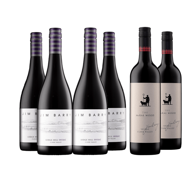 JIM BARRY WINES Upgrade 6 Pack Shiraz, Clare Valley MV