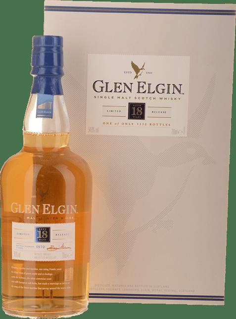 GLEN ELGIN Limited Release 1998 18 Year Old Whisky 54.8% ABV, Speyside NV
