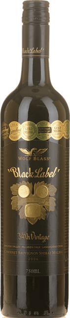 WOLF BLASS WINES Black Label, South Australia 2006