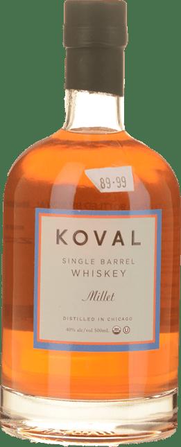 KOVAL Millet Single Barrel 40% ABV Whiskey, U.S.A. NV