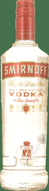 SMIRNOFF No.21 37.5% ABV Vodka, Russia NV