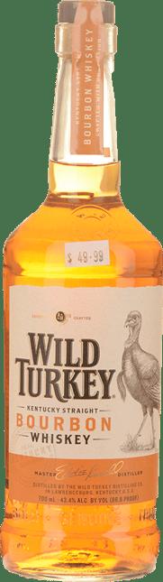 WILD TURKEY Straight Kentucky 43.4% ABV Bourbon NV