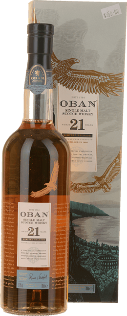 OBAN 21 Year Old Single Malt Scotch Whisky 57.9% ABV, The Highlands NV