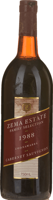 ZEMA ESTATE Family Selection Cabernet Sauvignon, Coonawarra 1988
