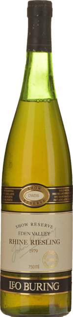 LEO BURING DWI 16 Show Reserve Riesling, Eden Valley 1979