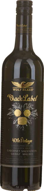 WOLF BLASS WINES Black Label, South Australia 2012
