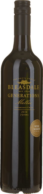 BLEASDALE VINEYARD Generations Malbec, Langhorne Creek 2016
