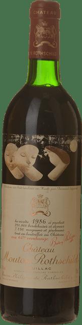 CHATEAU MOUTON-ROTHSCHILD 1er cru classe, Pauillac 1986