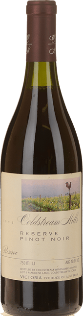 COLDSTREAM HILLS Reserve Pinot Noir, Yarra Valley 1993