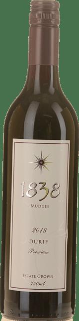 1838 WINES Premium Durif, Mudgee 2018