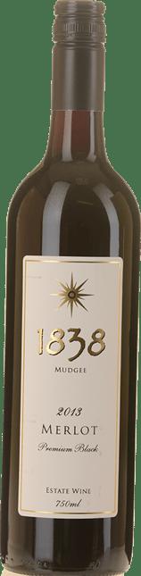 1838 WINES Premium Black Merlot, Mudgee 2013