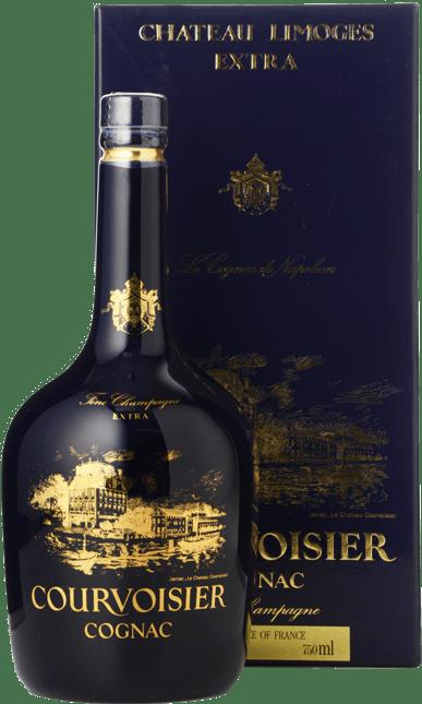 COURVOISIER Fine Champagne Cognac - Blue Limoges Porcelain bottle NV