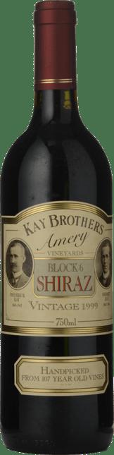 KAY BROS AMERY Block 6 Old Vine Shiraz, McLaren Vale 1999