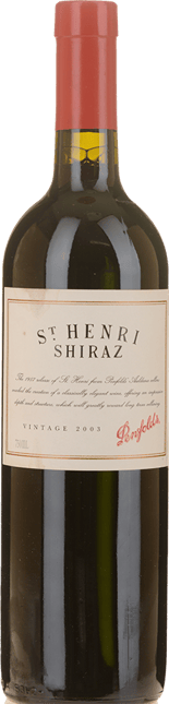 PENFOLDS St. Henri Shiraz, South Australia 2003