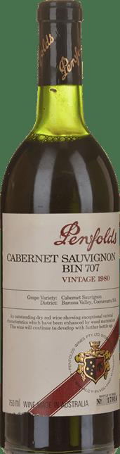 PENFOLDS Bin 707 Cabernet Sauvignon, South Australia 1980