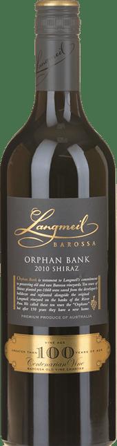 LANGMEIL WINERY Orphan Bank Shiraz, Barossa Valley 2010