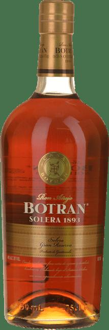 RON BOTRAN Solera 1893 Gran Reserva 40% ABV Rum, Guatemala NV