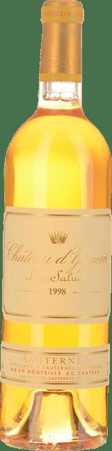 CHATEAU D'YQUEM 1er cru superieur, Sauternes 1998