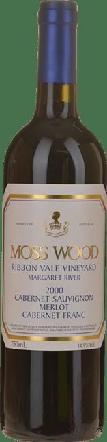 MOSS WOOD Ribbon Vale Cabernet blend, Margaret River 2000
