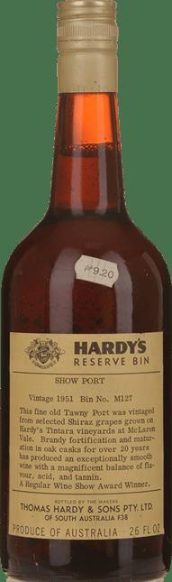 HARDY'S Reserve BIN M127 Show Tawny Port, McLaren Vale 1951