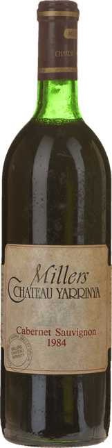 MILLERS CHATEAU YARRINYA Cabernet Sauvignon, Yarra Valley 1984