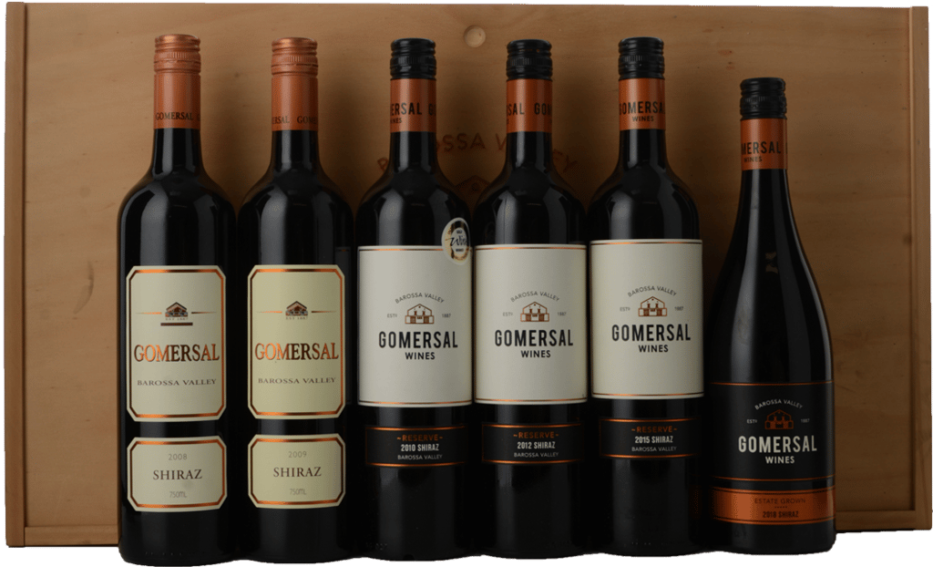 GOMERSAL WINES Shiraz 6 Bottle Set, Barossa Valley MV