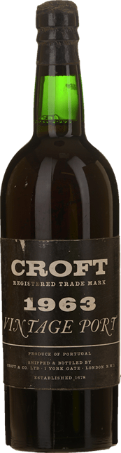 CROFT'S Vintage Port, Oporto 1963