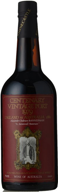 RHINE CASTLE WINES Cricket Centenary Vintage Port, South Australia 1979