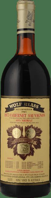 WOLF BLASS WINES Cabernet Shiraz, McLaren Vale, Barossa Valley-Langhorne Creek 1977