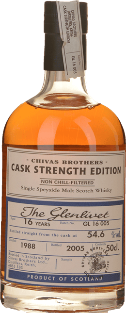 CHIVAS BROTHERS The Glenlivet Cask Strength 16 YO 54.6% ABV, Speyside NV