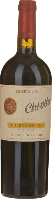 BODEGAS JULIAN CHIVITE Reserva Colleccion 125 Tempranillo, Navarra 2000