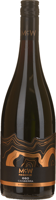 MCWILLIAM'S WINES McW 660 Reserve Syrah, Canberra District 2016