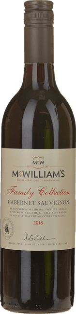 MCWILLIAM'S WINES Family Collection Cabernet, South Eastern Australia 2018