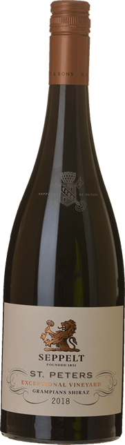 SEPPELT St Peters Great Western Vineyards Shiraz, Grampians 2018