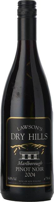 LAWSON'S DRY HILLS Pinot Noir, Marlborough 2004