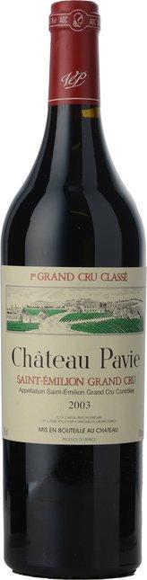 CHATEAU PAVIE 1er grand cru classe (A), St-Emilion 2003