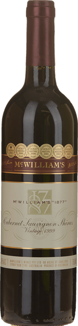 MCWILLIAM'S WINES McWilliam's 1877 Shiraz Cabernet, Coonawarra, Hilltops 1999