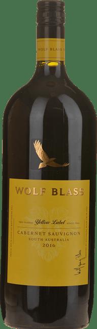 WOLF BLASS WINES Yellow Label Cabernet Sauvignon, South Australia 2016