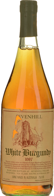 SEVENHILL CELLARS White Burgundy Crouchen Verdelho, Clare Valley 1987