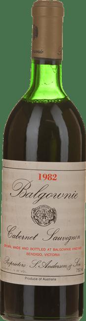 BALGOWNIE ESTATE Cabernet Sauvignon, Bendigo 1982