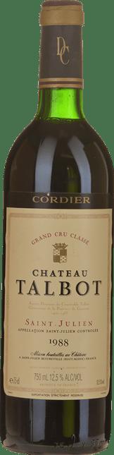 CHATEAU TALBOT 4me cru classe, St-Julien 1988