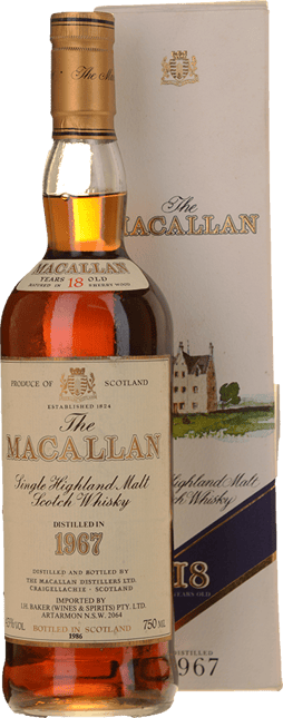 MACALLAN 18 Year Old Sherry Cask Matured Single Malt Whisky 43% ABV, The Highlands NV