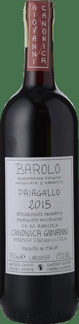 GIOVANNI CANONICA Paiagallo, Barolo DOCG 2015