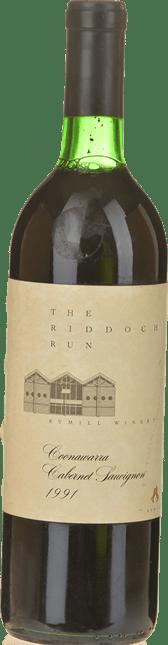 RYMILL WINERY The Riddoch Run Cabernet Sauvignon, Coonawarra 1991