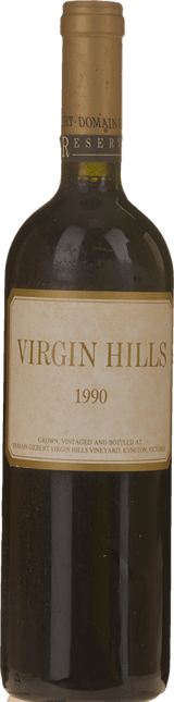 VIRGIN HILLS Reserve Dry Red, Macedon 1990