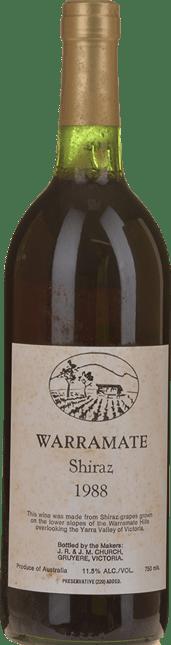 WARRAMATE White Label Shiraz, Yarra Valley 1988