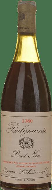 BALGOWNIE ESTATE Pinot Noir, Bendigo 1980