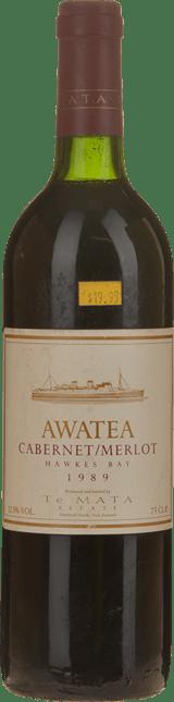 TE MATA ESTATE Awatea Cabernet Merlot, Hawkes Bay 1989
