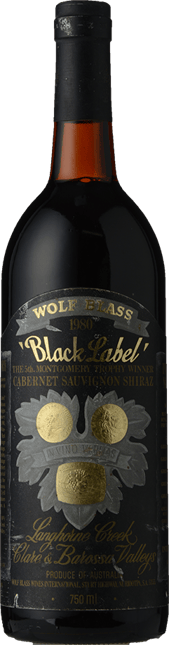 WOLF BLASS WINES Black Label, South Australia 1980