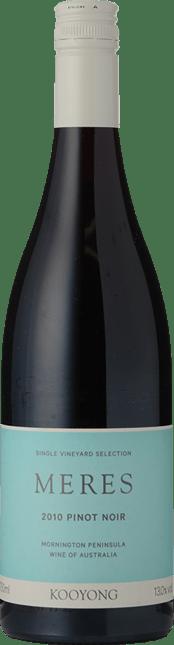 KOOYONG WINES Meres Pinot Noir, Mornington Peninsula 2010